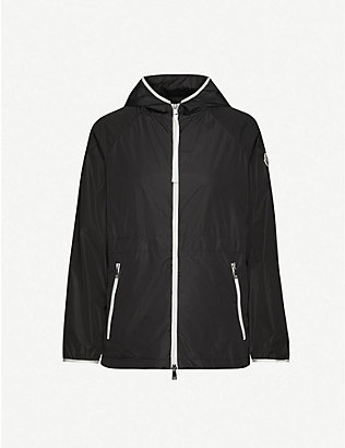 MONCLER: Eau contrast-trim relaxed-fit jacket