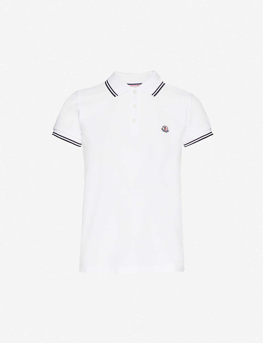 MONCLER: Logo-embroidered cotton-piqué polo shirt