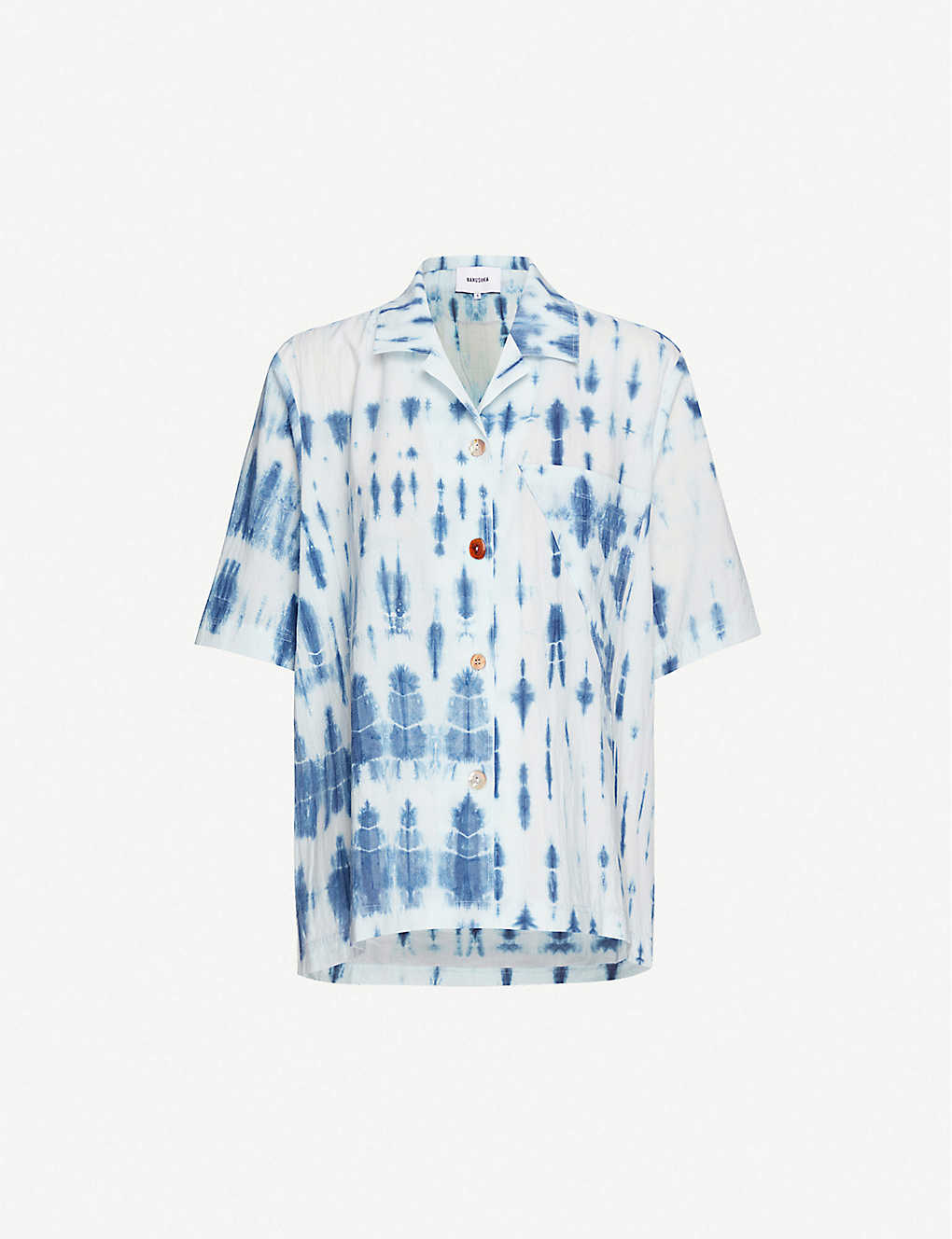 NANUSHKA: Taio tie-dye cotton shirt