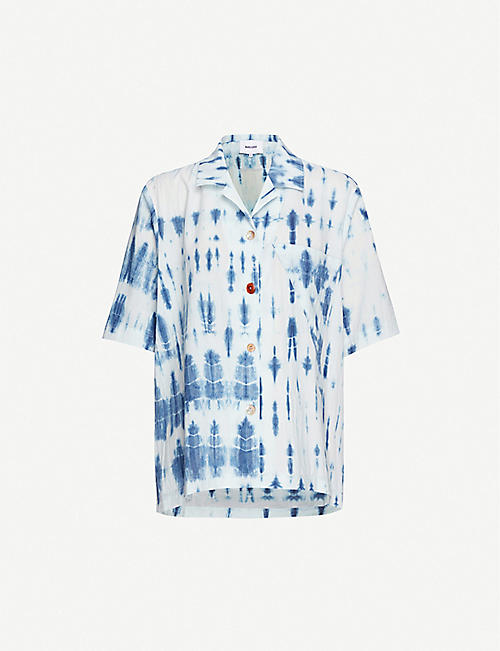 NANUSHKA Taio tie-dye cotton shirt