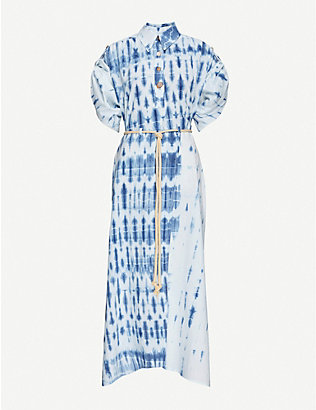 NANUSHKA: Hanna tie-dyed cotton midi dress