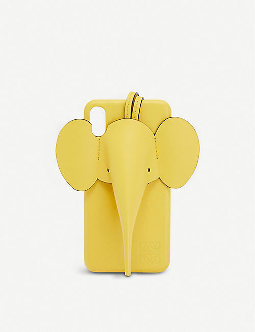 LOEWE: Elephant leather iPhone XS Max cover