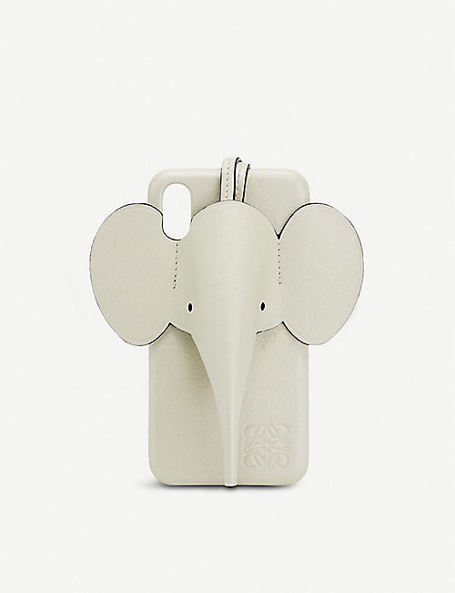 LOEWE: Elephant leather iPhone X/XS cover