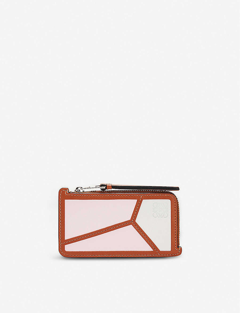 LOEWE: Puzzle zipped leather coin and cardholder