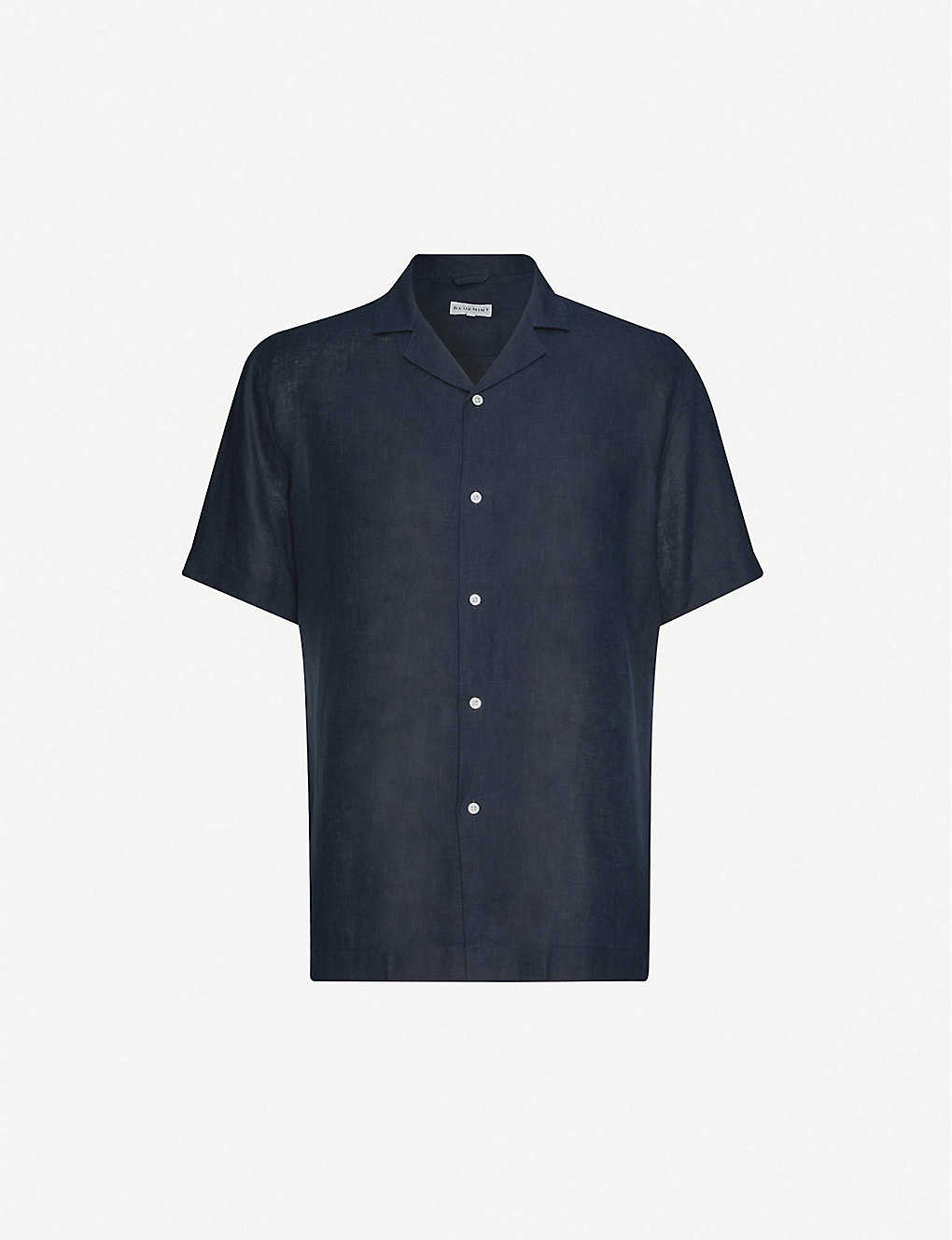 BLUEMINT: Mars notched-collar linen shirt