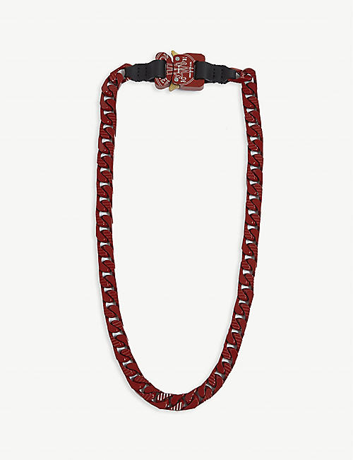 MONCLER GENIUS Rollercoaster buckle chain necklace