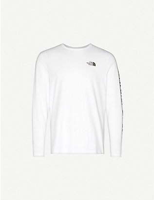 THE NORTH FACE: Logo-print long-sleeved cotton-jersey top