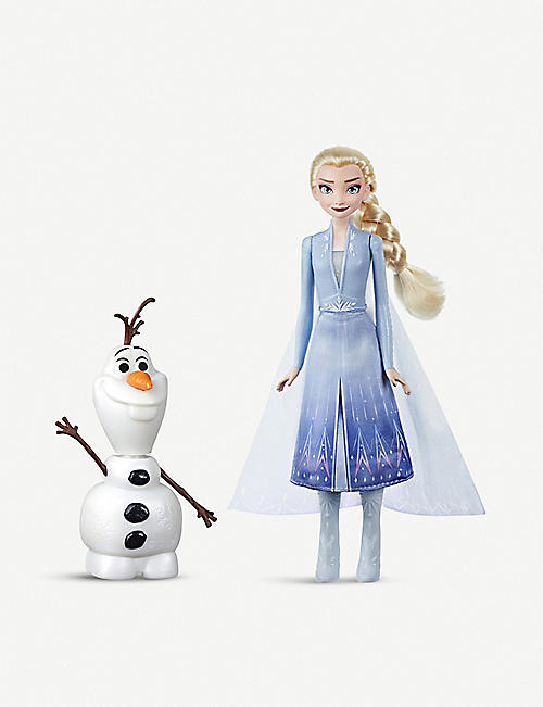 FROZEN Disney Frozen II Talk and Glow Olaf and Elsa dolls
