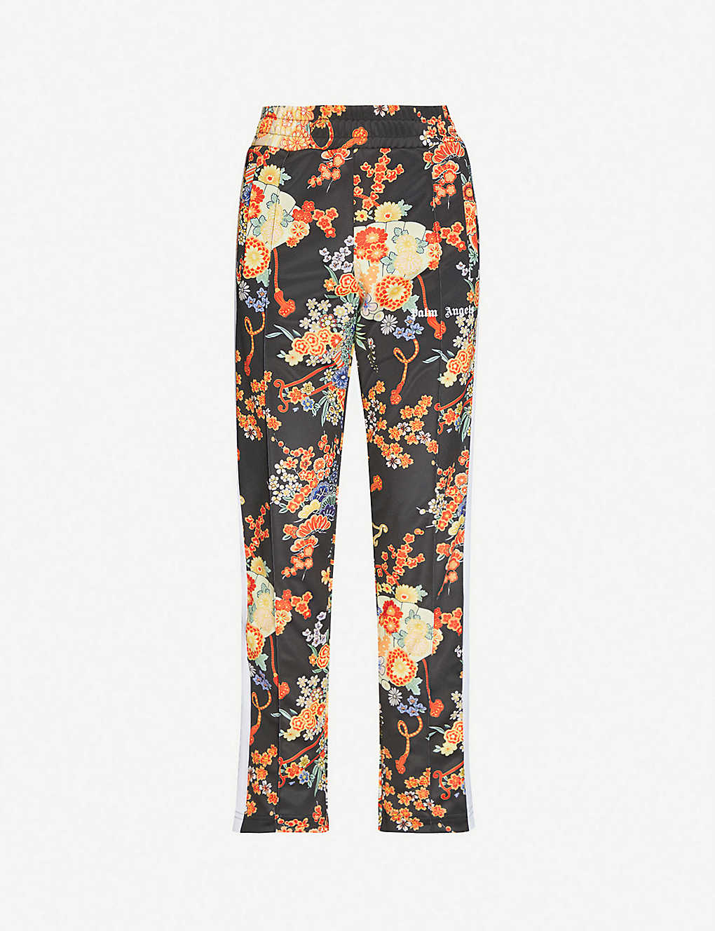 PALM ANGELS: Blooming floral-print jersey jogging bottoms