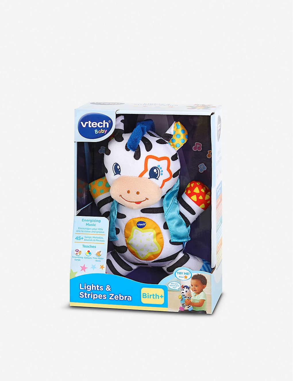 Vtech Lights And Stripes Zebra Baby Toy Selfridges Com