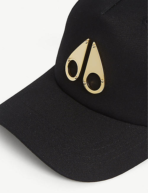 MOOSE KNUCKLES Metal logo cotton baseball cap