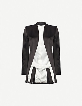 HAIDER ACKERMANN: Single-breasted silk blazer