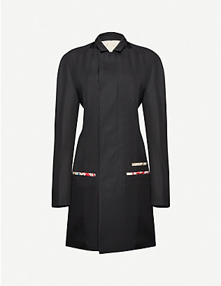 HAIDER ACKERMANN: Slim-fit wool and silk-blend coat