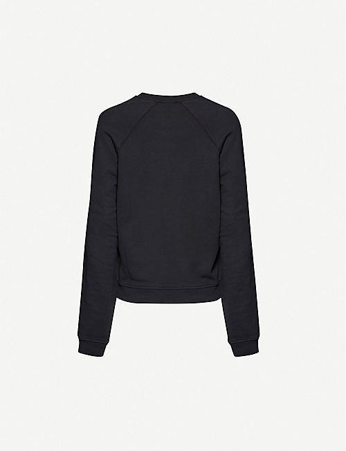 HAIDER ACKERMANN Graphic-print relaxed-fit cotton-jersey sweatshirt