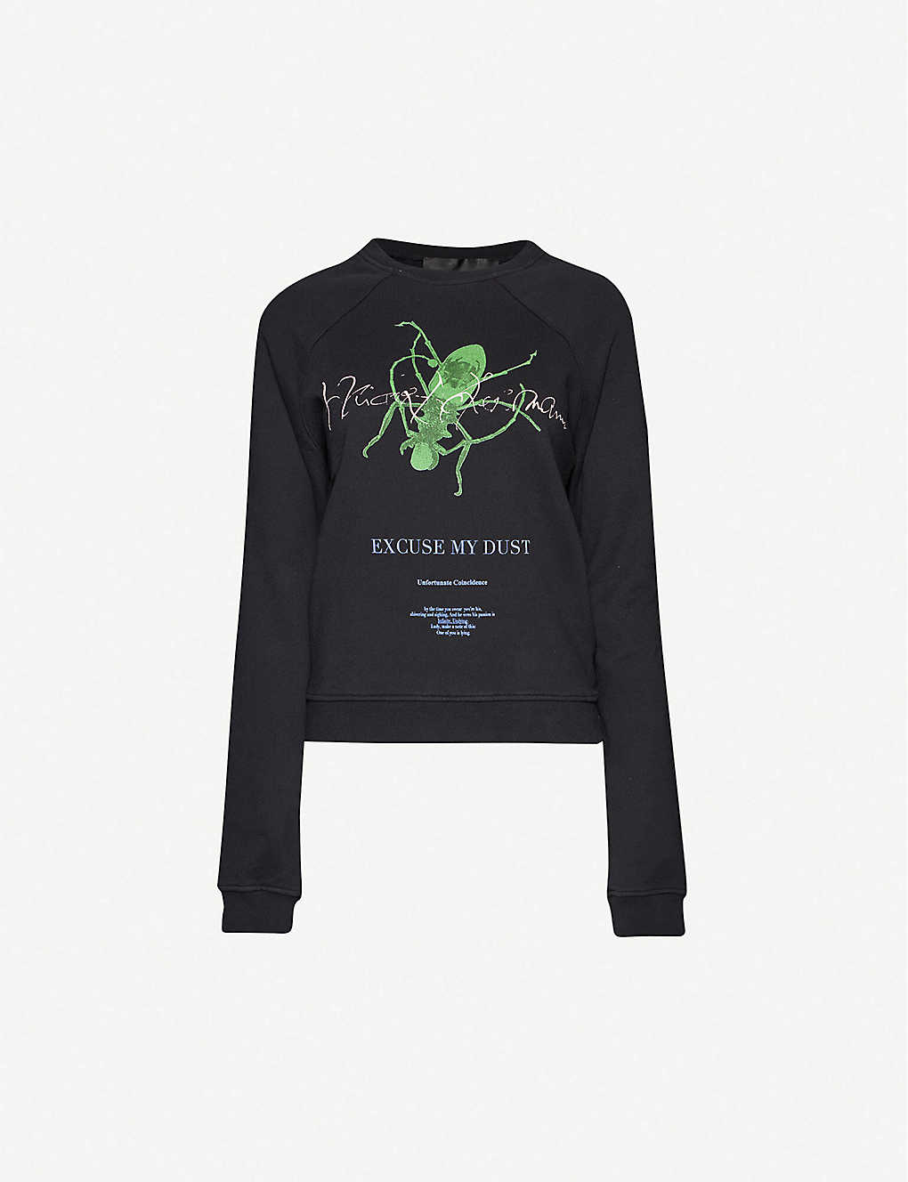 HAIDER ACKERMANN: Graphic-print relaxed-fit cotton-jersey sweatshirt