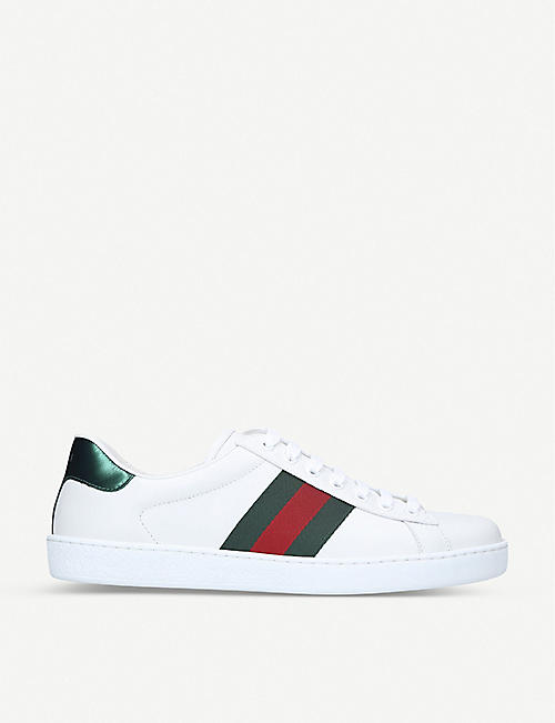 GUCCI: New Ace leather trainers
