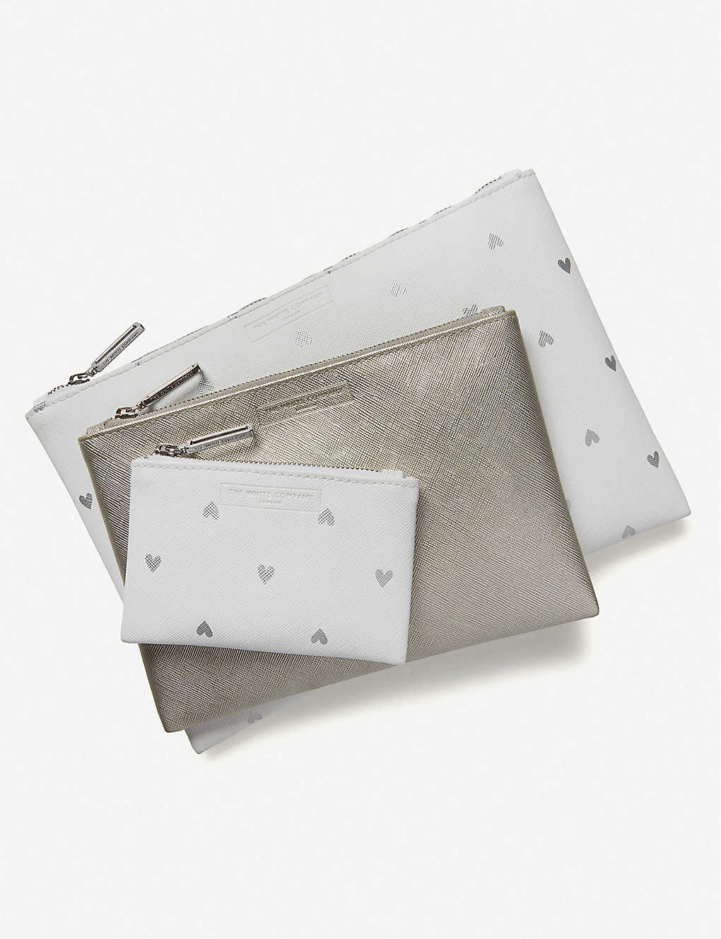 THE WHITE COMPANY: Heart leather pouch set of three