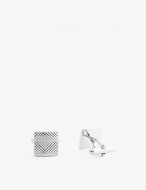 LANVIN: Textured square cufflinks