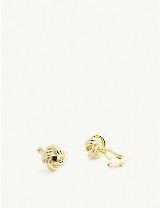 LANVIN: Knotted cufflinks