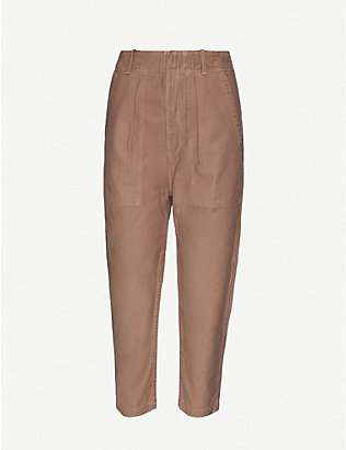CITIZENS OF HUMANITY: Harrison tapered high-rise cotton trousers