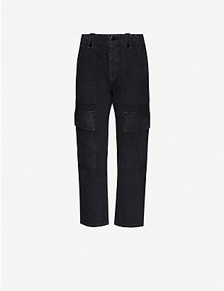 CITIZENS OF HUMANITY: Zadie high-rise cotton and linen-blend trousers
