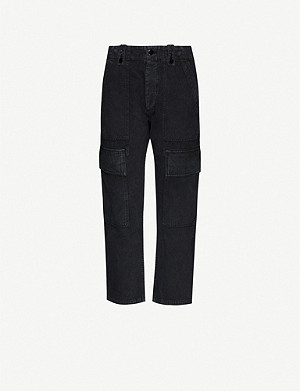 CITIZENS OF HUMANITY Zadie high-rise cotton and linen-blend trousers