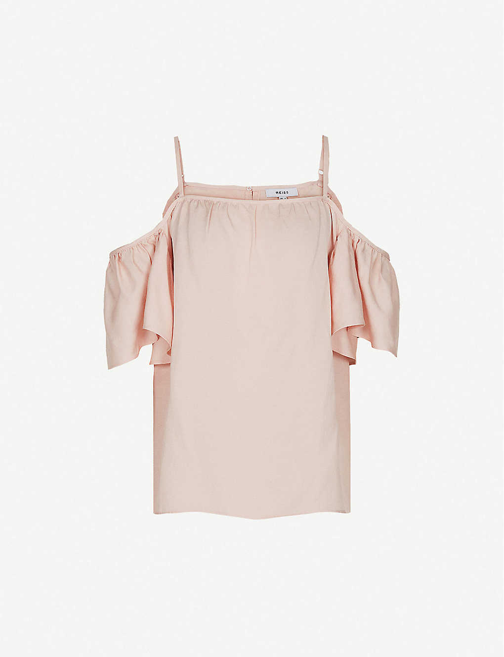 REISS: Emma off-the-shoulder crepe top