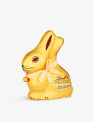 LINDT: White chocolate gold bunny 200g
