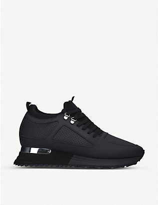 MALLET: Diver 2.0 knitted and leather trainers