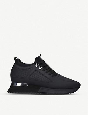 MALLET Diver 2.0 knitted and leather trainers