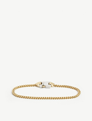 1017 ALYX 9SM Classic gold-toned brass buckle necklace