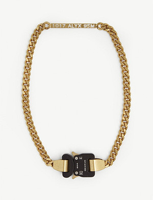 1017 ALYX 9SM Rollercoaster buckle curb chain necklace