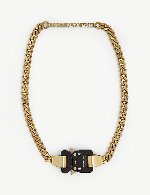 1017 ALYX 9SM: Rollercoaster buckle curb chain necklace