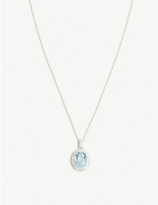 HATTON LABS: Crown sterling silver crystal pendant necklace