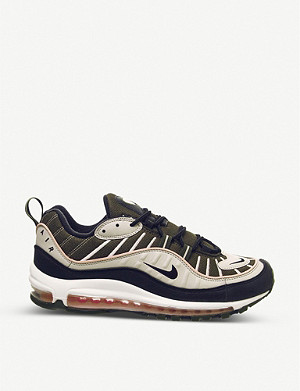 NIKE Air Max 98 leather and textile trainers