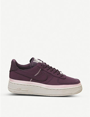 NIKE: Air Force 1 '07 leather trainers