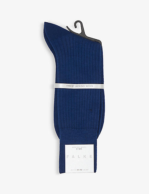 FALKE: No7 Ribbed merino wool socks