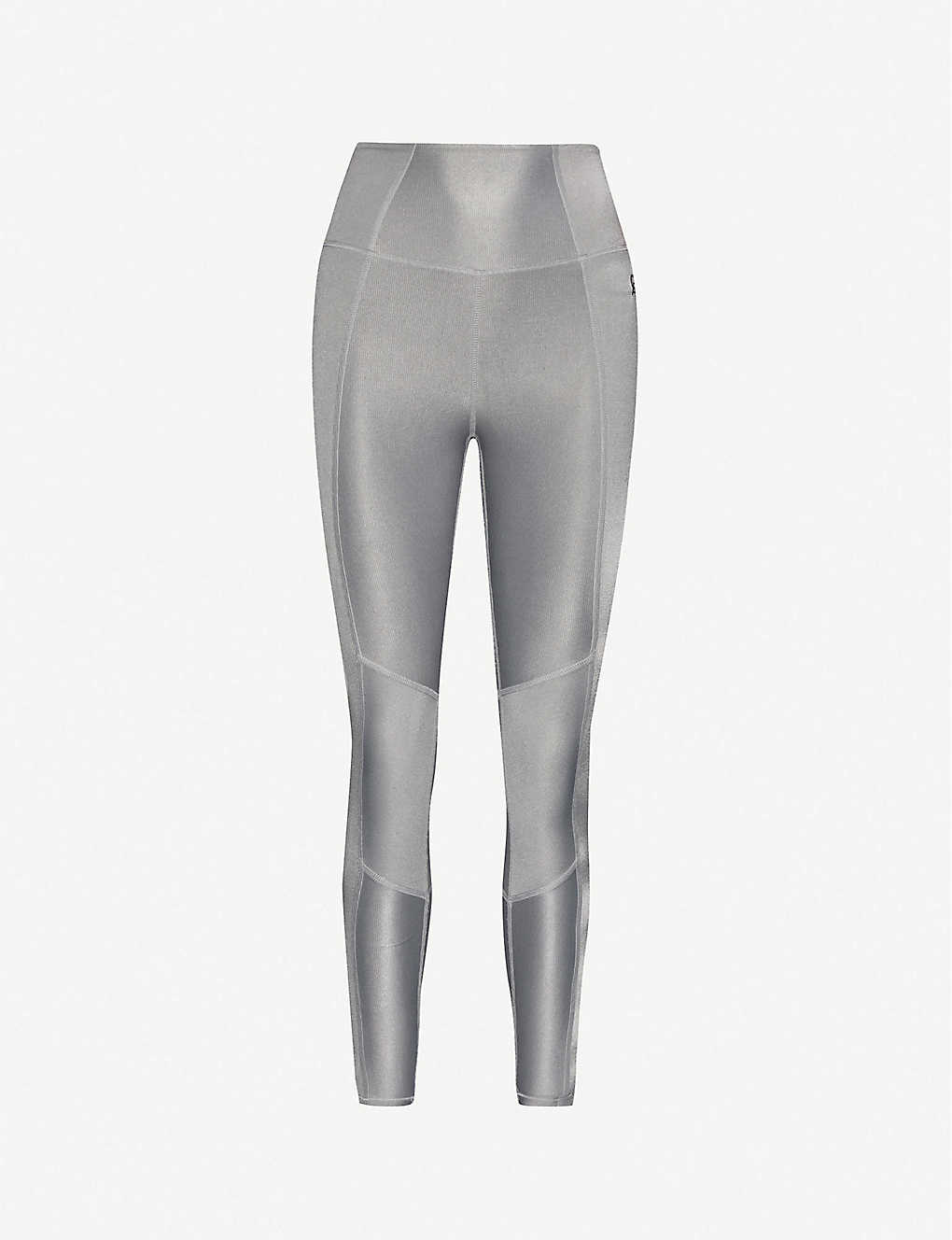GOOD AMERICAN: Shiny high-rise stretch-jersey leggings