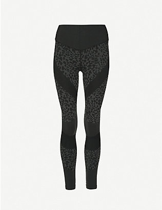 GOOD AMERICAN: Leopard-print high-rise seamless stretch-jersey leggings