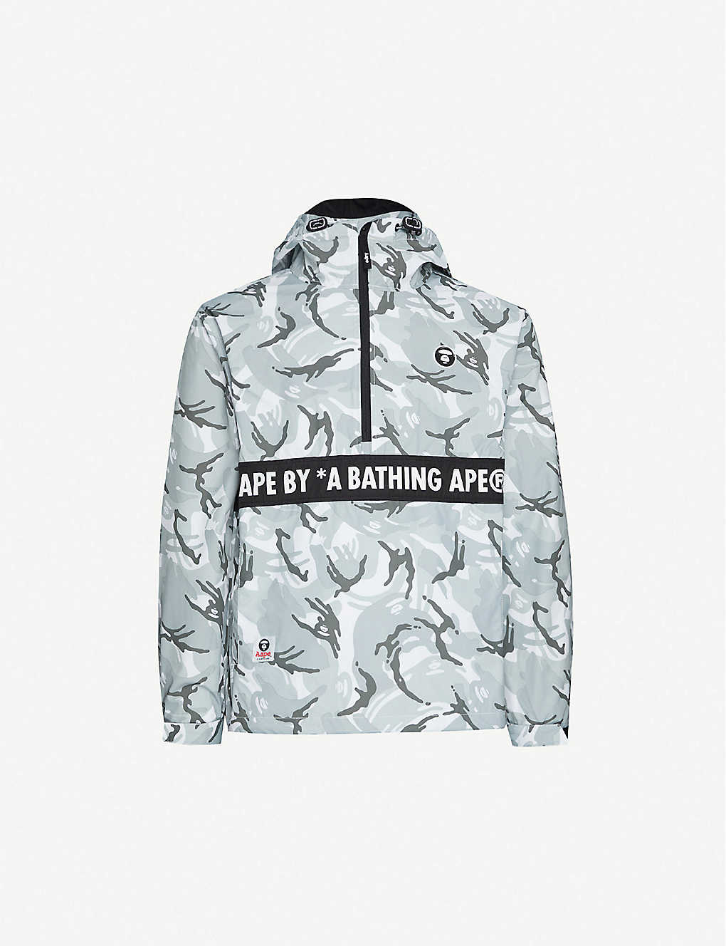 AAPE: Camouflage-print hooded shell jacket