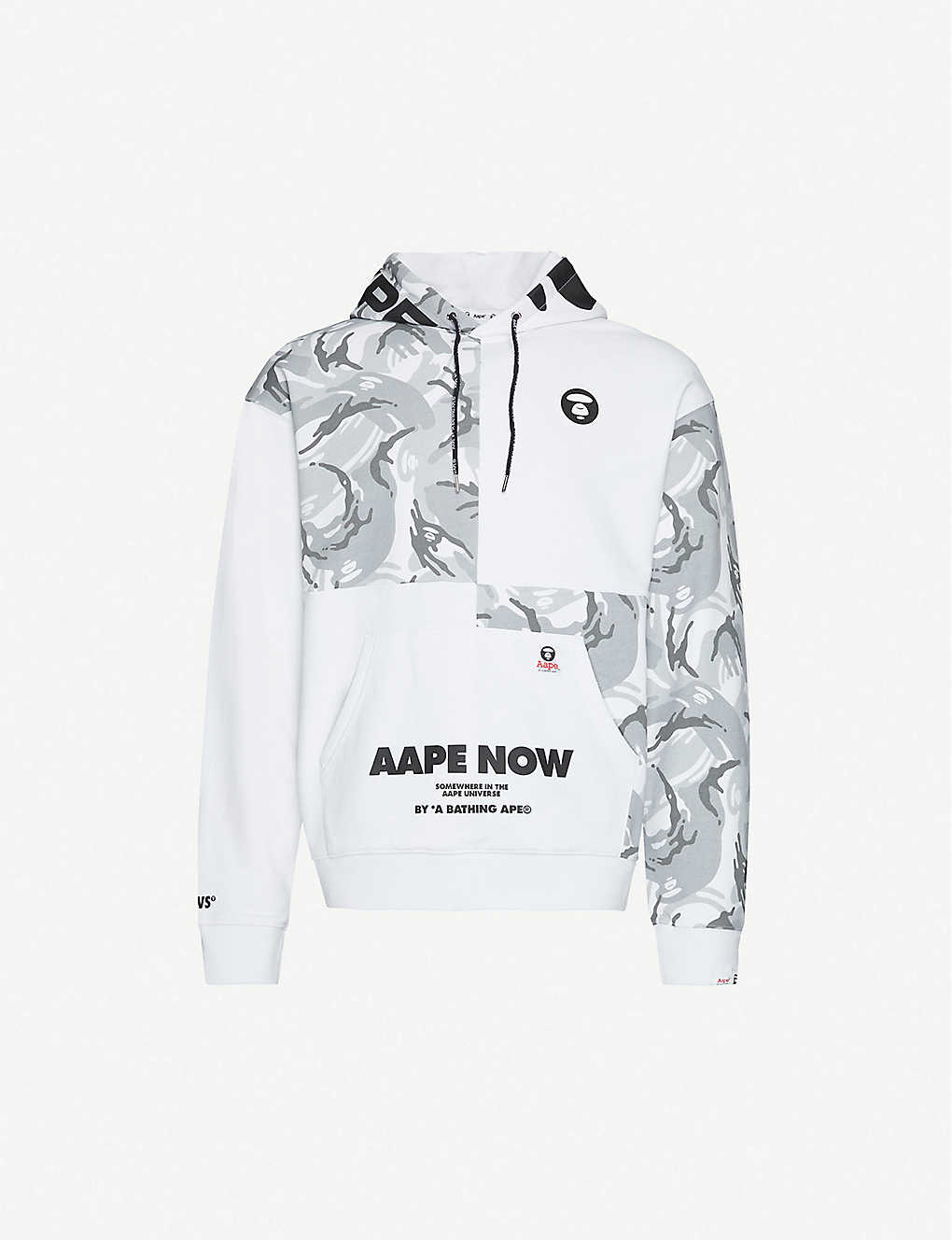 AAPE: Graphic-print cotton-blend hoody