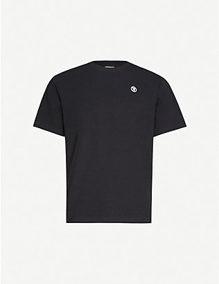AAPE: Logo-embroidered cotton-jersey T-shirt