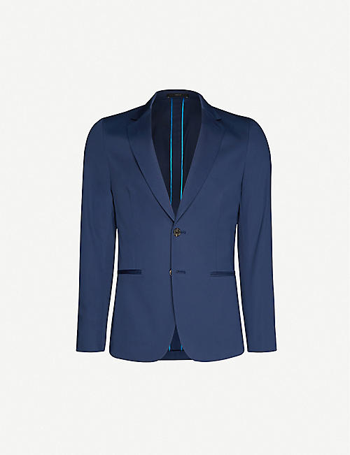 PAUL SMITH Single-breasted stretch-cotton blazer