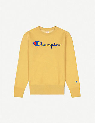 CHAMPION: Logo-embroidered cotton sweatshirt
