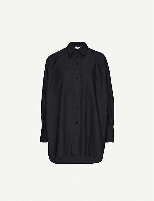 TOPSHOP Oversized cotton-poplin shirt