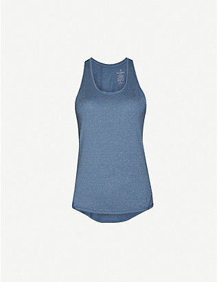 SWEATY BETTY: Energise sleeveless recycled-polyester blend jersey top