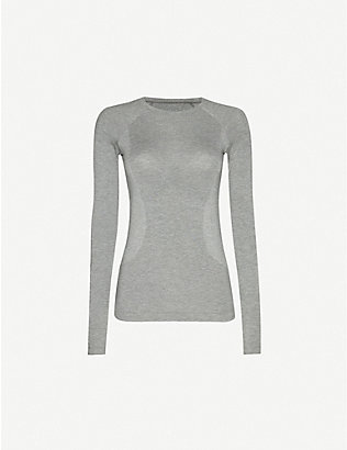 SWEATY BETTY: Glisten Bamboo stretch-knit top