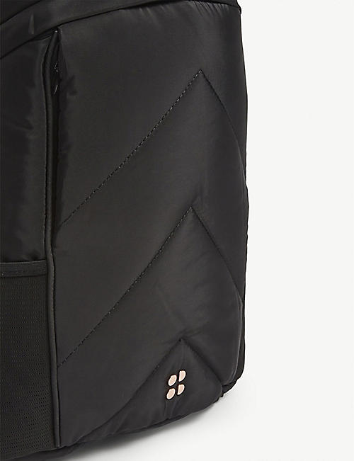 SWEATY BETTY Icon quilted nylon running backpack
