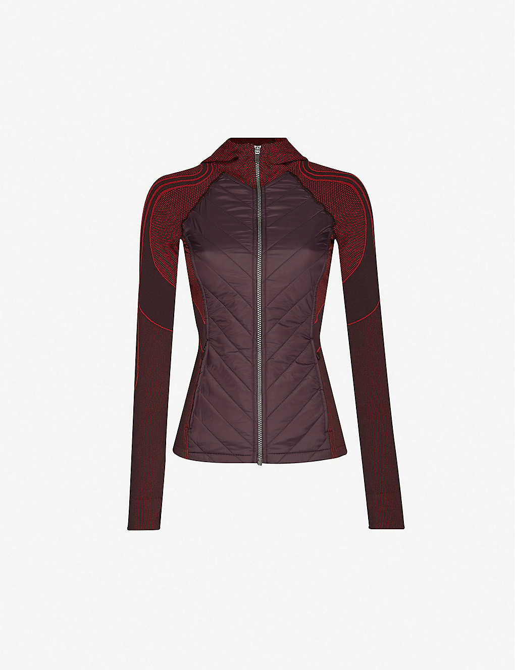 SWEATY BETTY: Speedy Seamless funnel-neck stretch-knit and shell jacket