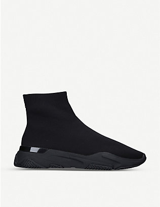 MALLET: Sock Runner tonal stretch-knit mid-top trainers